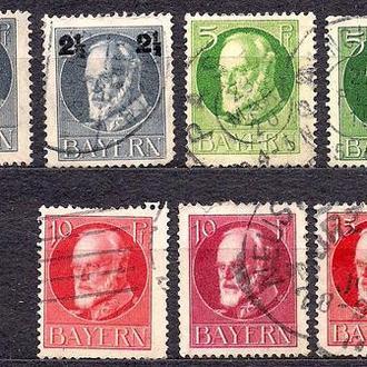 Бавария, немецкие земли, 1916 г.,стандарт, король Людвиг 3