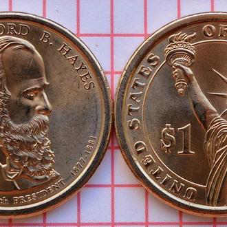 1 доллар 19 президент США Ратерфорд Хейз, 2011 г