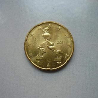 Италия 20 евроцентов 2011 состояние