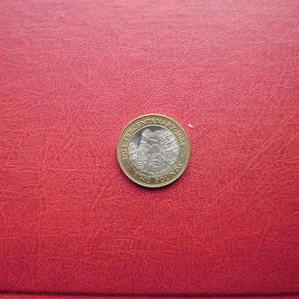 Гибралтар 2 фунта 2004 aUNC. Захват Гибралтара. Редкая.