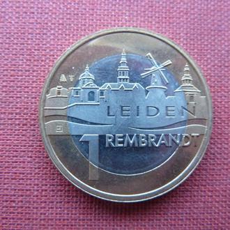 Нидерланды г.Лейден 1 евро 2006г. 400-летие со дня рождения Рембрандта