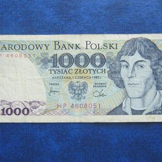 банкнота 1000 злотых Польша 1982 №1
