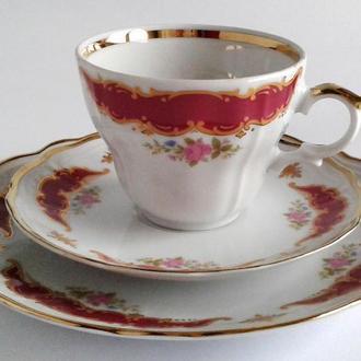 Чашка блюдце тарелка Wunsiedel фарфор Germany Fv8