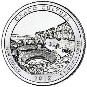 25 центов США Нью-Мексико  парк  Чако 2012 г. Нью Мексико