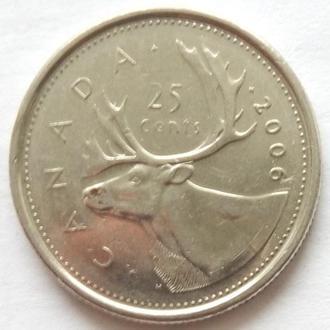 Канада 25 центов 2006 монетный двор ''кленовый лист''