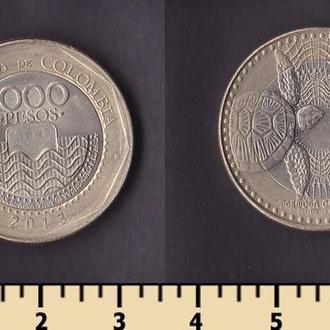 Колумбия 1000 песо 2013