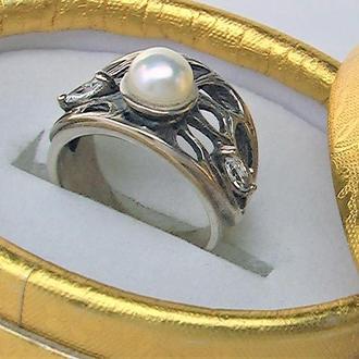 Кольцо перстень серебро 925 проба 5,89 гр 16 размер