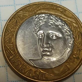 БРАЗИЛИЯ, 1 реал 2008