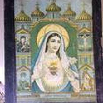 Икона,литография ,сердце Богородици