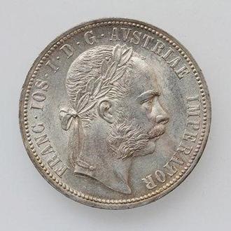 Австро-Венгрия 1 флорин 1891 г., UNC, 'Император Франц Иосиф (1848-1916)'