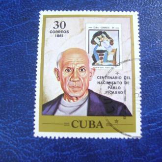 Куба. Столетие Рождения Pablo Picasso