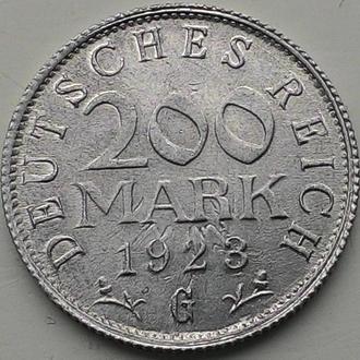 Германия 200 марок 1923 год G  СОСТОЯНИЕ!!!