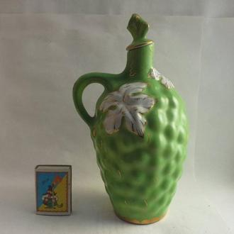 Кувшин зеленый виноград фарфор Коростынь