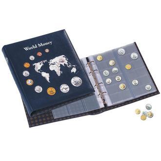 АЛЬБОМ на 152 монеты OPTIMA WorldMoney с тиснением, Leuchtturm