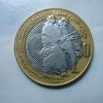 Алжир 50 динаров 2004 биметалл юб.