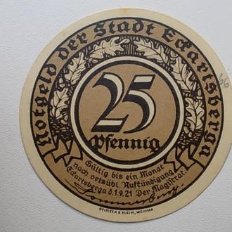 25 пфеннингов 1921г.