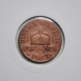 Германская Восточная Африка 1 геллер 1907 г. J, СОСТОЯНИЕ