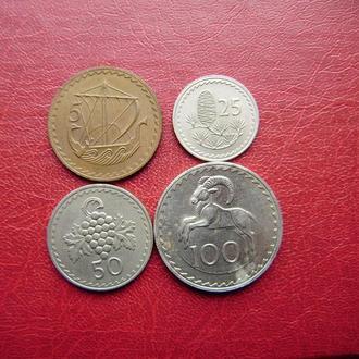 Кипр набор монет 1960 (1963-1982)