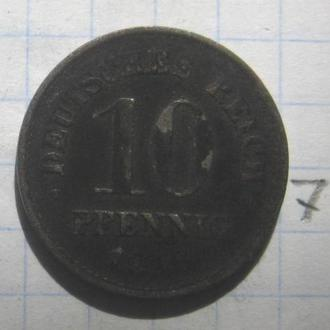 ГЕРМАНИЯ, 10 пфеннигов 1916 года.