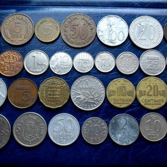 Монеты мира на выбор зарубежные Европа, Америка