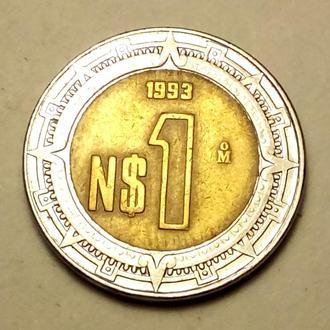 1 песо 1993 года Мексика !!! а2