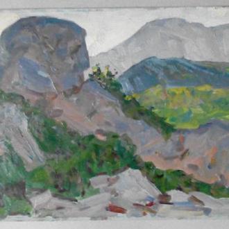 Крымская природа 1960х гг. Советское искусство , подписана