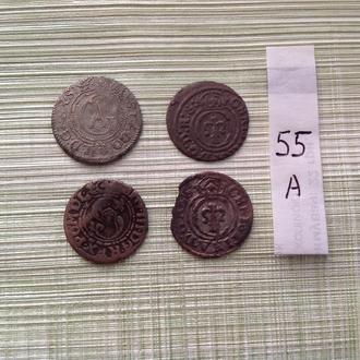 4 серебрянных средневековых монет