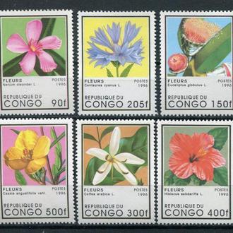 Конго.1996г. Флора. Цветы. Полная серия. MNH