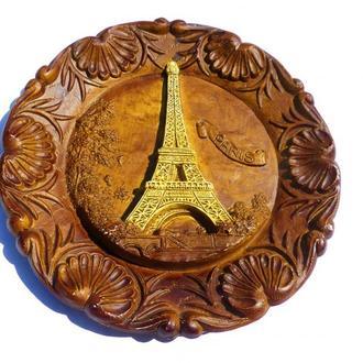 -z-    Тарелка настенная -  Эйфелева башня — Париж франция