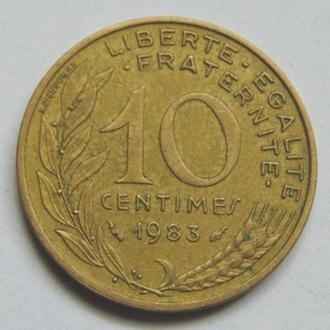 Франция 10 сантимов 1983 г.