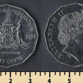 Австралия 50 центов 2001