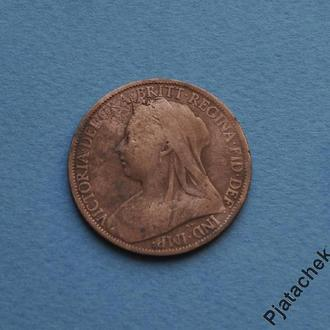 1 пенни 1900 г. Виктория