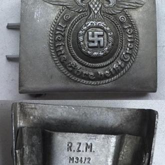 Ременная пряжка для рядового состава Waffen SS. Алюминий.  (копия)