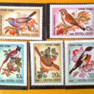 СССР 1981г  Фауна  Певчие птицы