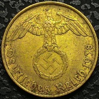 Германия 5 пфеннигов 1938 год СВАСТИКА!! СОСТОЯНИЕ!!!!!