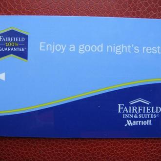 Карта ключ Гостинница MARRIOTT Fairfield