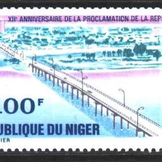 Транспорт / Техника . Нигер 1970 г MNH - мост , авто