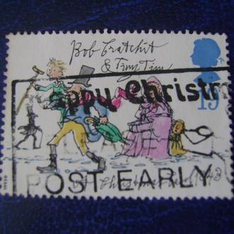 Великобритания.  Рождество. «Рожде́ственская песнь» Диккенса. Боб Крэтчит и малютка Тим