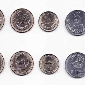 Монголия набор 1 2 5 10 15 20 50 монго 1980-81 UNC