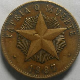 Куба 1 песо 1987 год