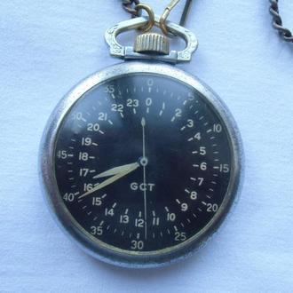 Часы Elgin GCT для военных летчиков Военно Воздушных Сил Армии США периода ВОВ U.S. ARMY A.C. 1941г.