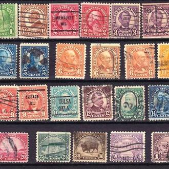 USA / США   1922 - 1925  г - разновидности , цвет , оттенки , б/з сторона