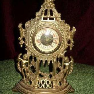 Часы каминные 25см бронза старинные эксклюзив антиквариат раритет из Англии