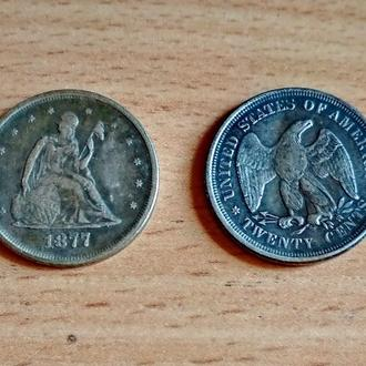 20 центов  1877 год США