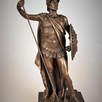 Бронзовая статуэтка воин скульптура рыцарь бронза 35 см подпись