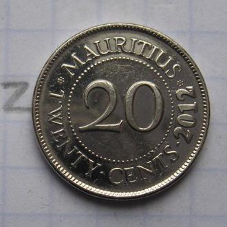 МАВРИКИЙ, 20 центов 2012 года.