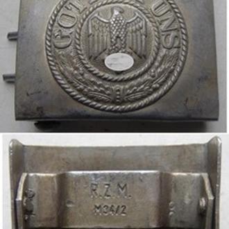 Ременная пряжка для рядового состава Вермахта. Алюминий.  (копия)