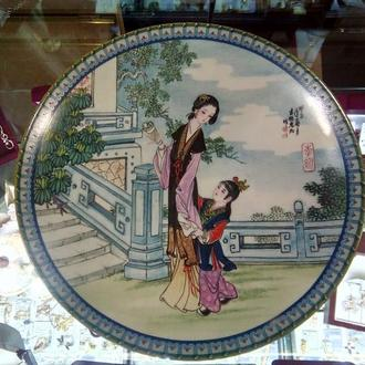 Настенная тарелка фарфор Imperial Jingdezhen Porcelain Plate 1988