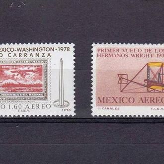 Авиация .  Мексика 1978 г   MNH -