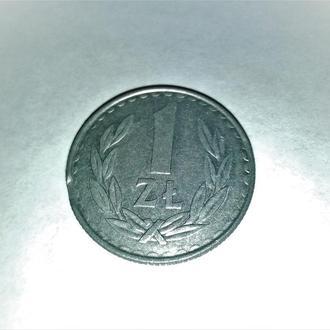 Оригинал. Польша 1 злотый 1987 года.